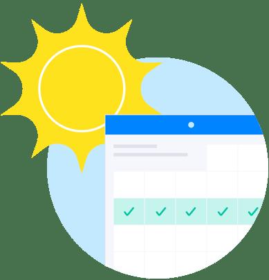 !Illustration Bank_HR - Sun with Schedule