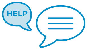 Help speech bubble with an answer