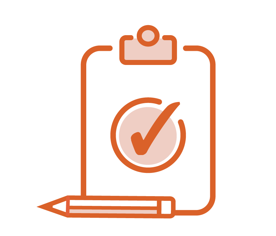 icon of checklist and a pencil