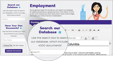 screen cap of employment section