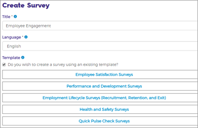 Screen cap of how to Create a Survey
