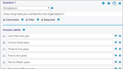screencap of custom questions