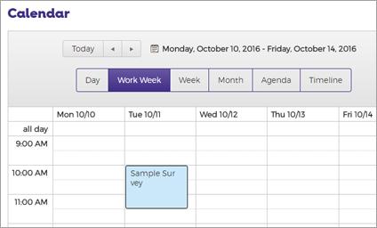 Screen cap of Calendar