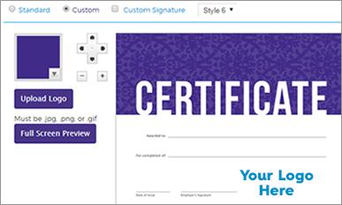 Certificate screenshot of Online Training