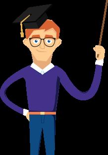 Training cartoon character