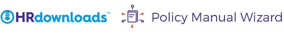 HRdownloads' Policy Manual Wizard logo