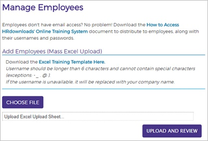 Screen cap of Managing your Employees