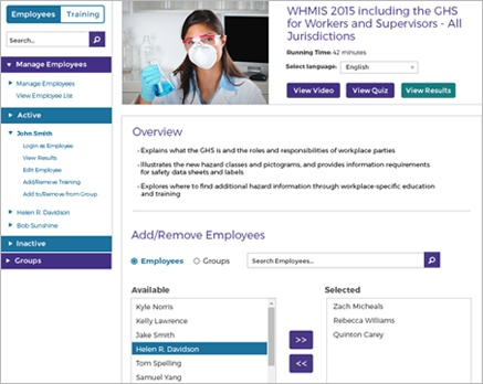Screen cap of selecting courses
